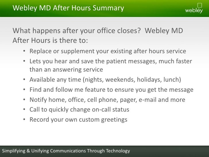 Providing better after hours care to your patients communications through technology 15 m4hsunfo