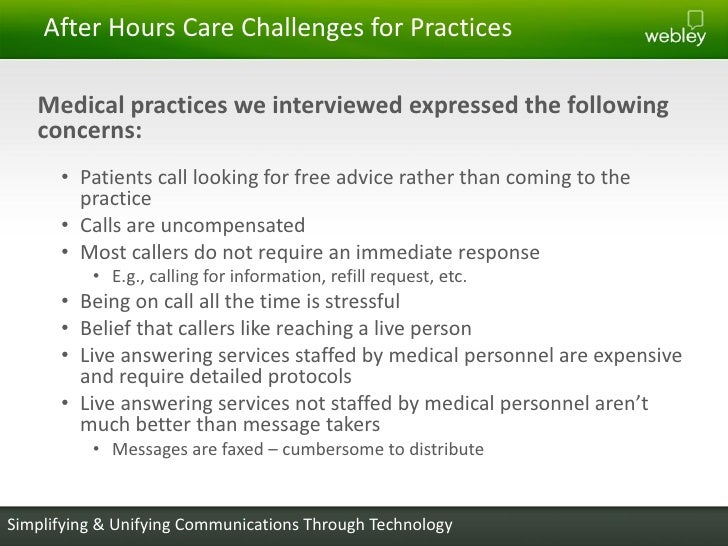 Providing better after hours care to your patients simplifying unifying communications through technology 5 m4hsunfo
