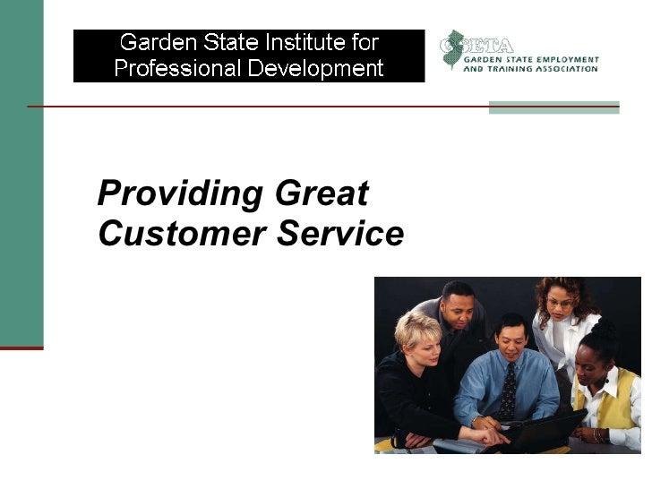 <ul><li>Providing Great Customer Service </li></ul>