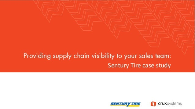 Providing supply chain visibility to your sales team: Sentury Tire case study