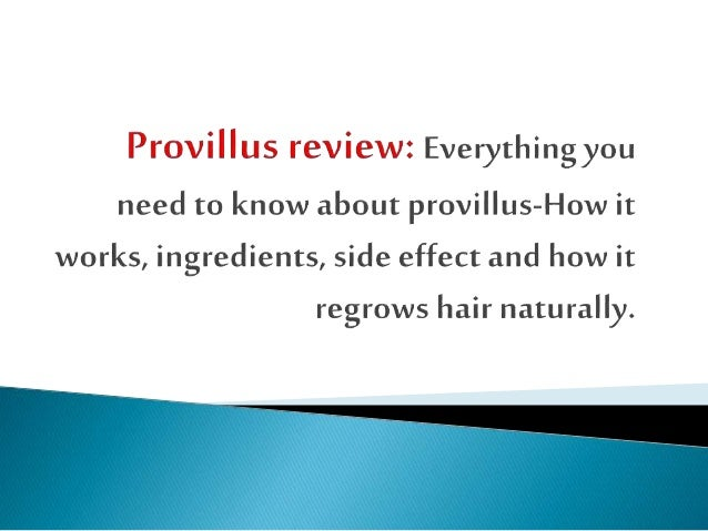 Provillus Review Everything You Need To Know About Provillus How It