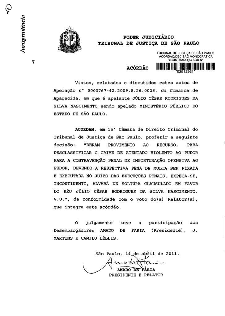 PODER JUDICIÁRIO                   TRIBUNAL DE JUSTIÇA DE SÃO PAULO                                                TRIBUNA...