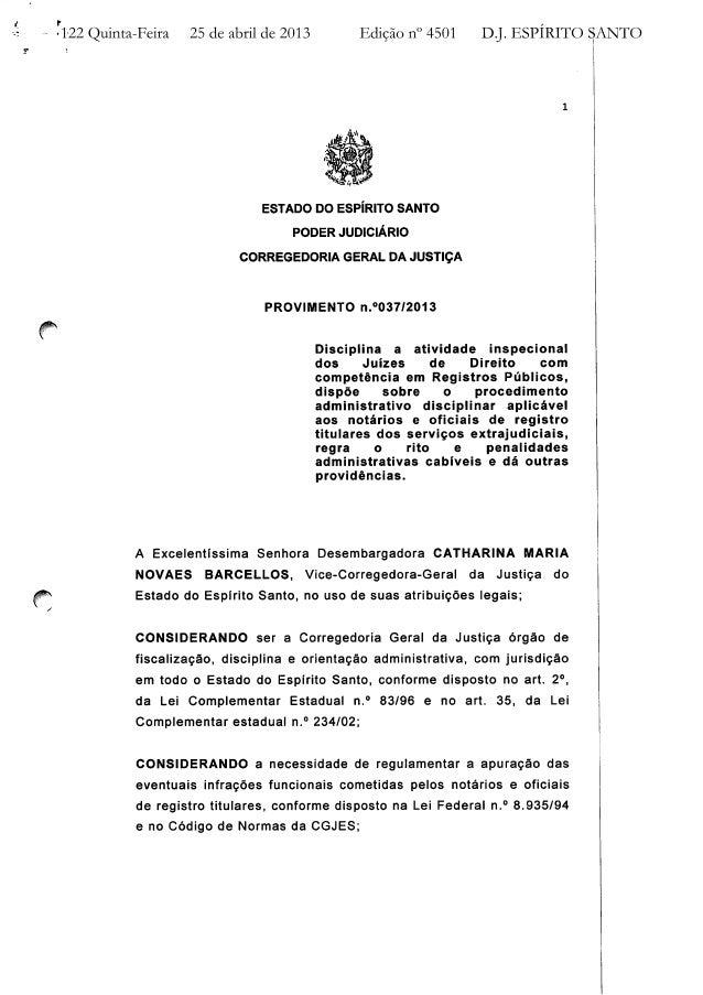 Provimento nº 37 CGJ / ES
