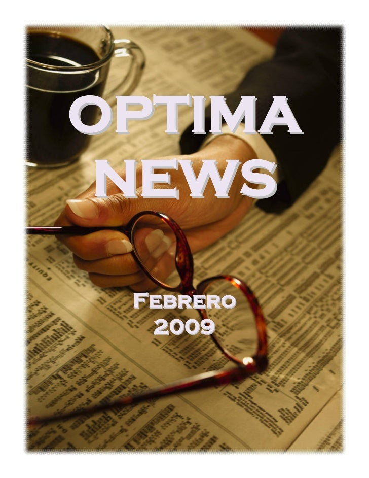 OPTIMA  NEWS   Febrero   2009