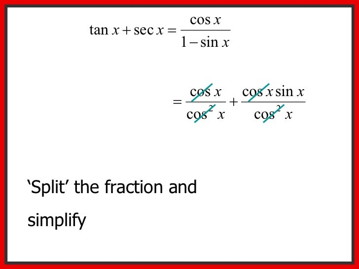 Proving Trigonometric Identities – Simplifying Trig Identities Worksheet