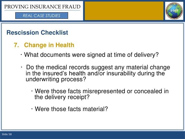 Proving Insurance Fraud: Real Case Studies - SlideShare