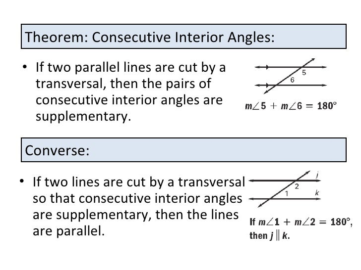 Proving lines are parallel for Consecutive exterior angles theorem
