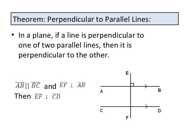 Proving lines are perpendicular