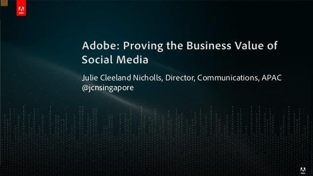 Julie Cleeland Nicholls, Director, Communications, APAC@jcnsingapore