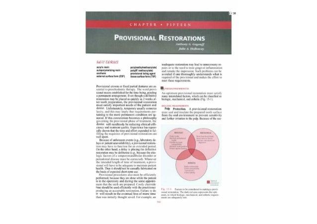 Provisional restorations