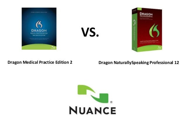 VS.Dragon NaturallySpeaking Professional 12Dragon Medical Practice Edition 2