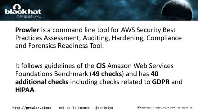 http://prowler.cloud - Toni de la Fuente - @ToniBlyx Prowler is a command line tool for AWS Security Best Practices Assess...