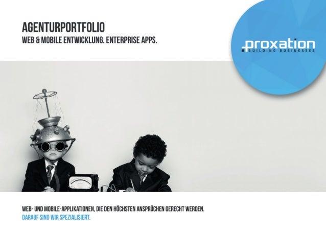 Portfolio der Digitalagentur Proxation in Muenchen
