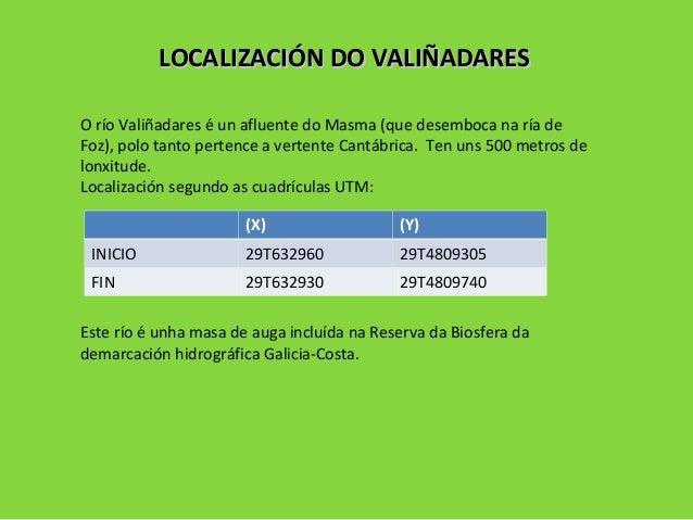 LOCALIZACIÓN DO VALIÑADARESLOCALIZACIÓN DO VALIÑADARES O río Valiñadares é un afluente do Masma (que desemboca na ría de F...