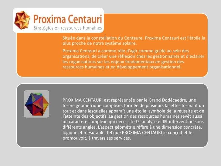 Proxima Centauri StratéGies En Ressources Humaines Slide 2