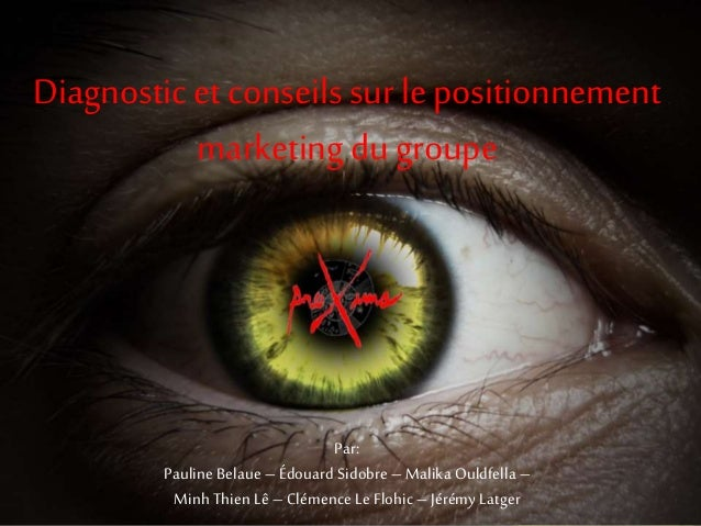 Diagnostic et conseils sur le positionnement marketing du groupe Par: Pauline Belaue – Édouard Sidobre – Malika Ouldfella ...