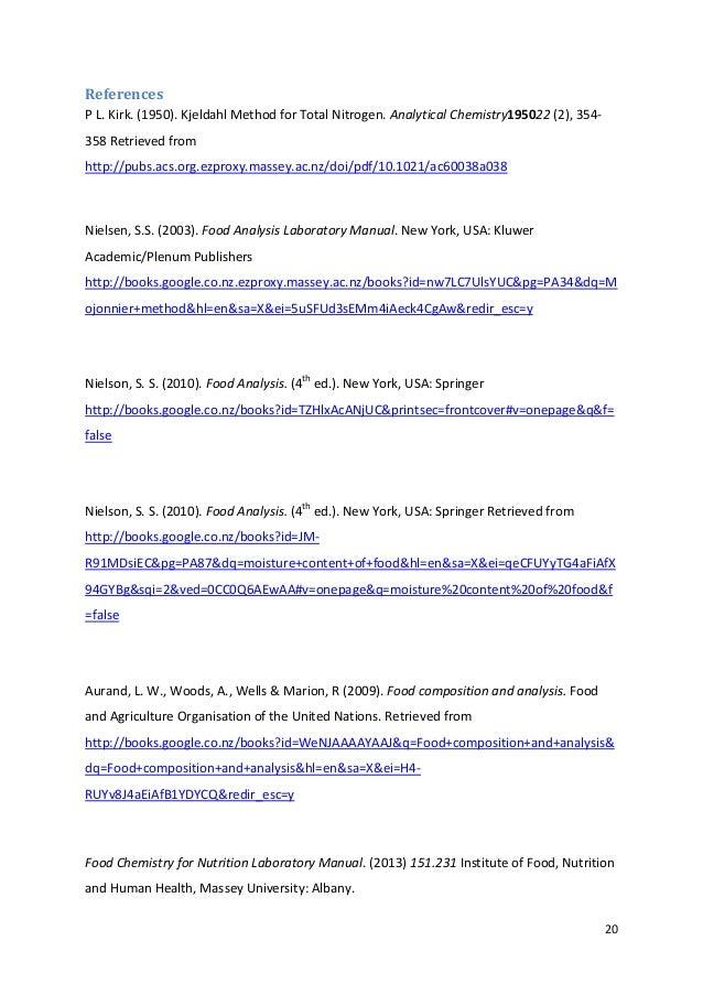 proximate analysis of fonterra rh slideshare net AOAC Methods List AOAC 990.12