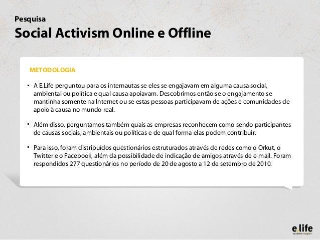Estudo sobre Ativismo Social Slide 2