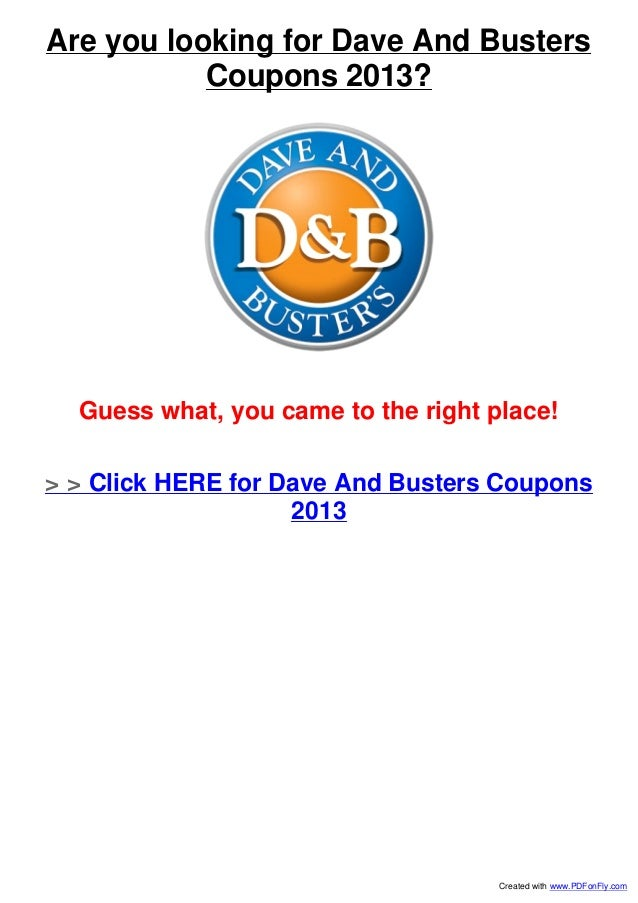 photo about Dave and Busters Coupons Printable named Dave n busters discount coupons