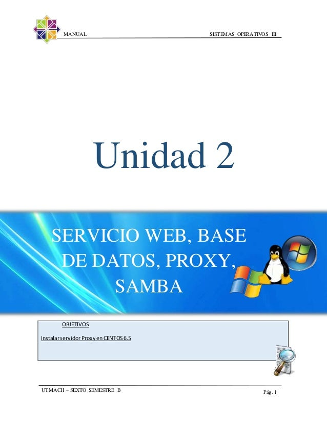 Web proxy centos