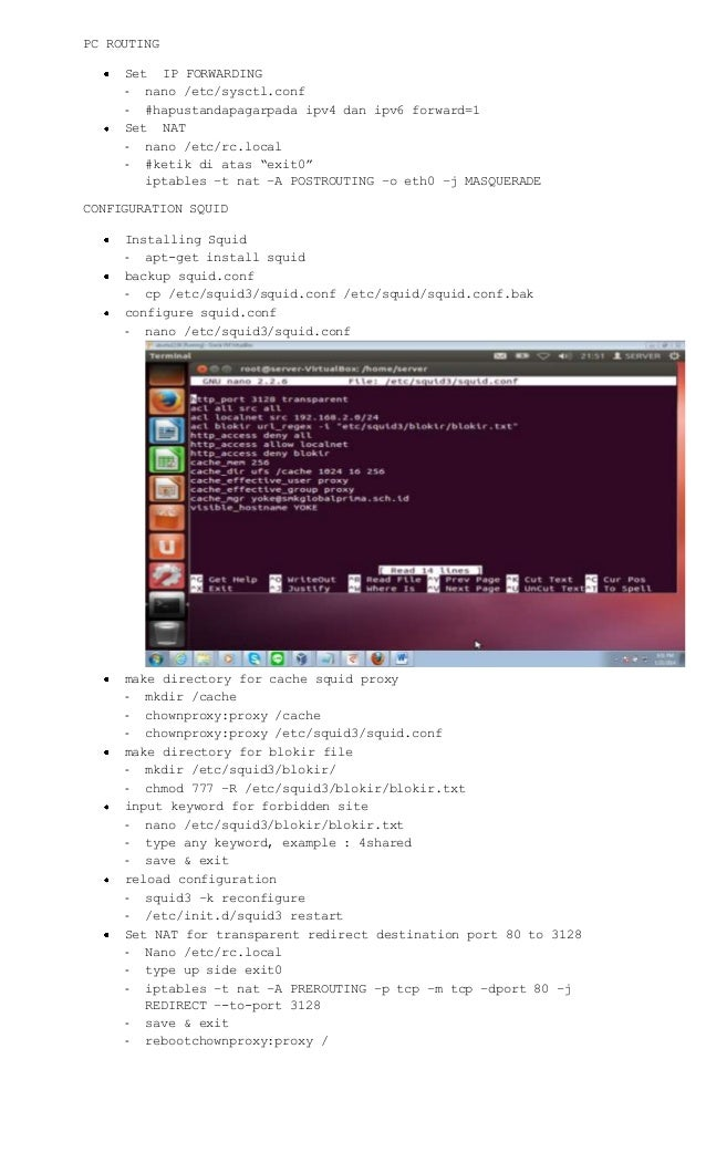 Top 12 Squid Proxy Server Configuration In Ubuntu 14 04
