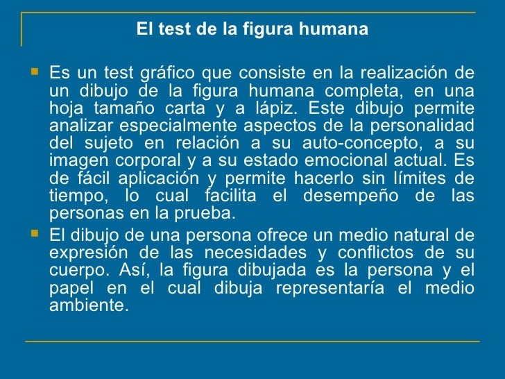Proyeccion de la personalidad en el dibujo de la figura humanappt