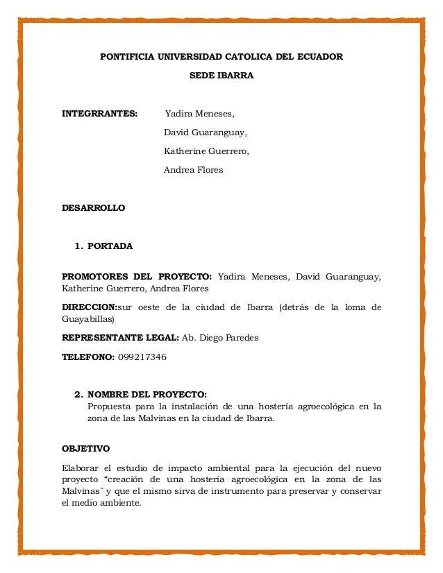 PONTIFICIA UNIVERSIDAD CATOLICA DEL ECUADOR                            SEDE IBARRAINTEGRRANTES:          Yadira Meneses,  ...
