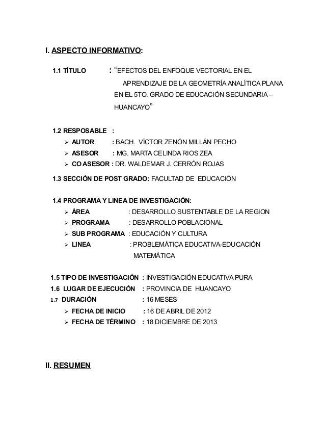 Proyect. tesis uncp. 2013  limp. ii Slide 2