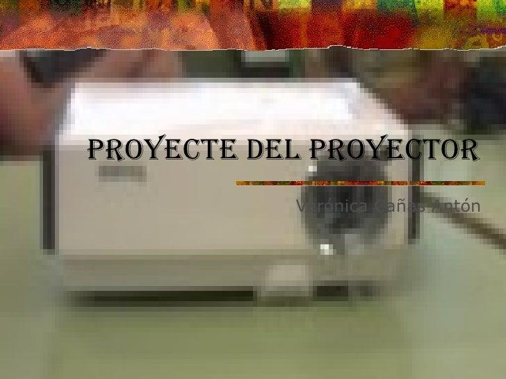 Proyecte del proyector Verónica Cañas Antón