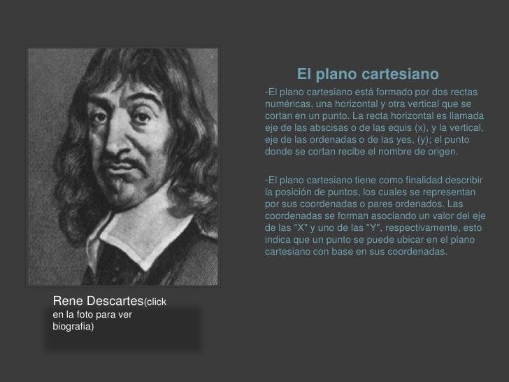 El plano cartesiano<br />-El plano cartesiano está formado por dos rectas numéricas, una horizontal y otra vertical que se...
