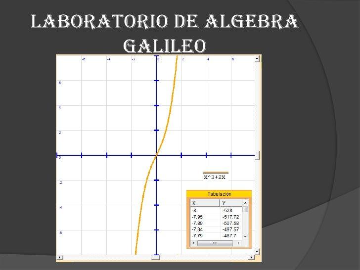 Laboratorio de algebra Galileo<br />