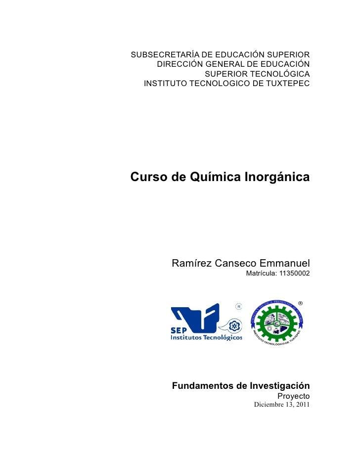 SUBSECRETARÍA DE EDUCACIÓN SUPERIOR     DIRECCIÓN GENERAL DE EDUCACIÓN               SUPERIOR TECNOLÓGICA  INSTITUTO TECNO...