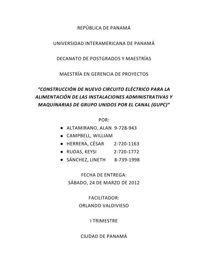 REPÚBLICA DE PANAMÁ      UNIVERSIDAD INTERAMERICANA DE PANAMÁ       DECANATO DE POSTGRADOS Y MAESTRÍAS        MAESTRÍA EN ...