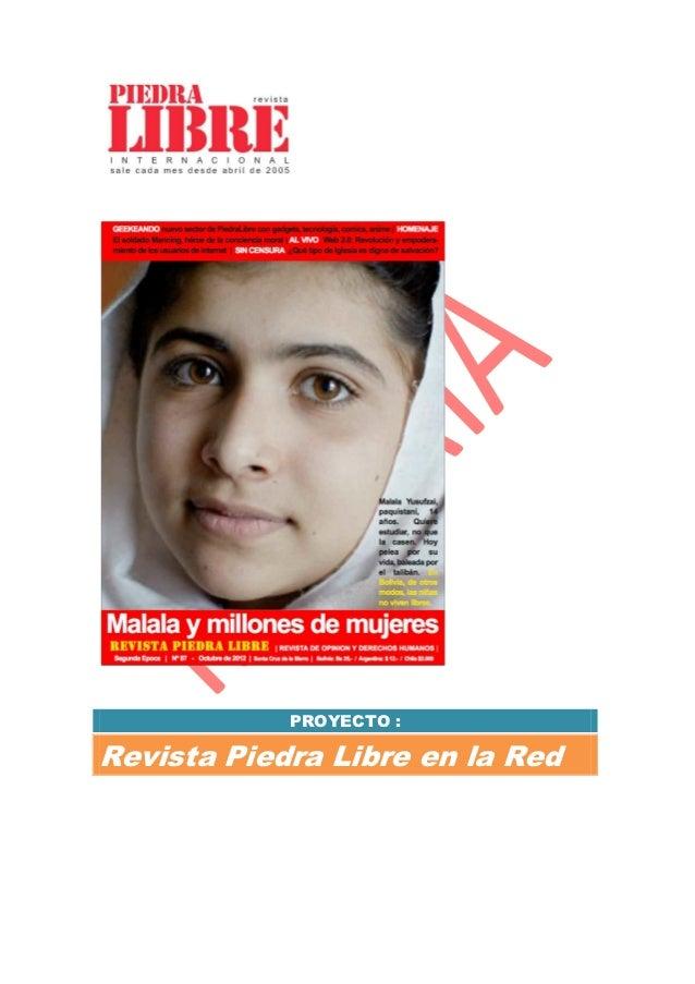 PROYECTO :Revista Piedra Libre en la Red