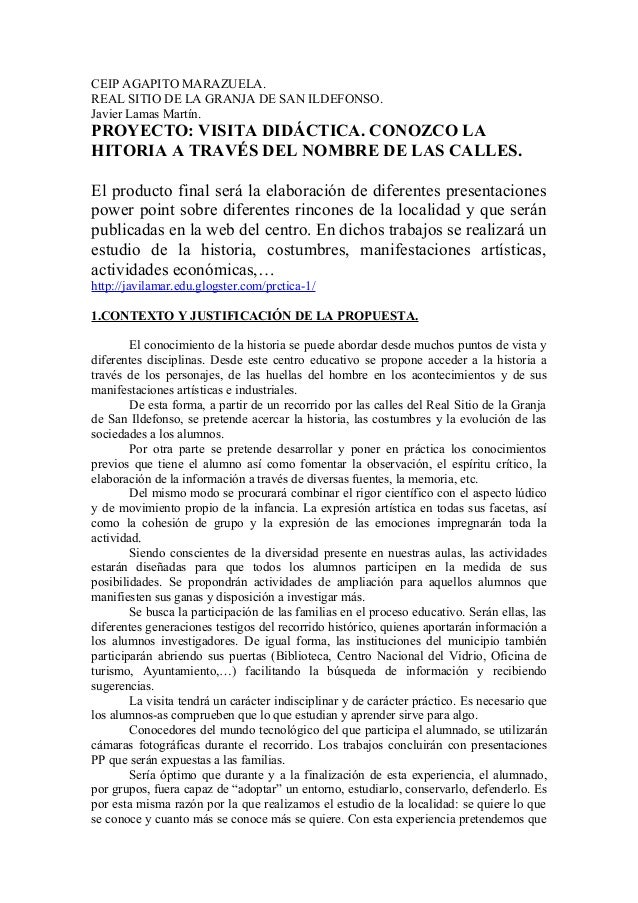 CEIP AGAPITO MARAZUELA.REAL SITIO DE LA GRANJA DE SAN ILDEFONSO.Javier Lamas Martín.PROYECTO: VISITA DIDÁCTICA. CONOZCO LA...