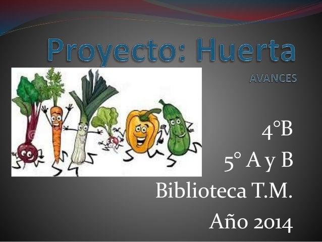 4°B  5° A y B  Biblioteca T.M.  Año 2014
