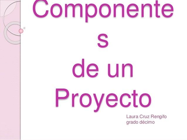 Componente s de un ProyectoLaura Cruz Rengifo grado décimo