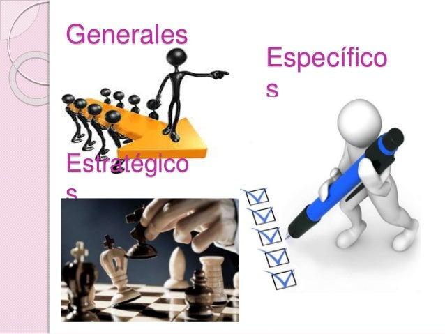 Generales Específico s Estratégico s