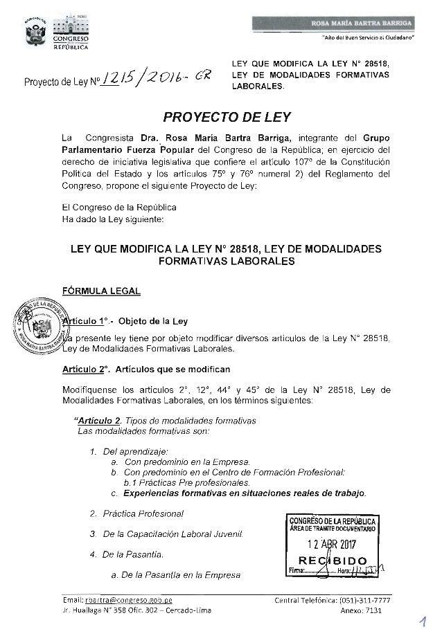 CONGRESO DE LA REP�BLICA Lima, ...,L .... de ...... .. ........ deI 201... Seg�n la consulta reallzada de conformidad con ...