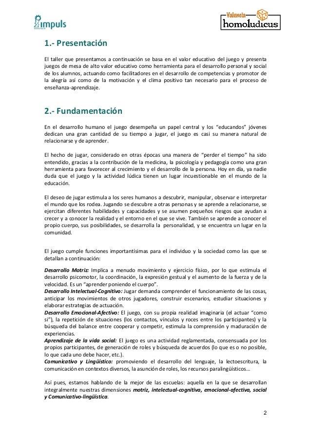 Proyecto de actuación en centros educativos de la Associació Impuls y Homo Ludicus Slide 3