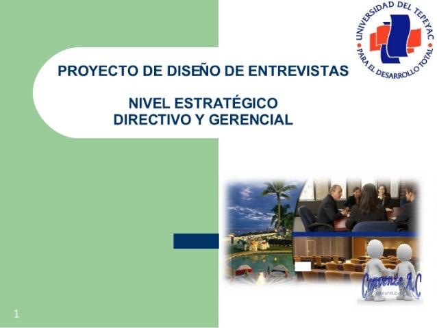 Proyecto de Diseño de Entrevistas  -Directivos-