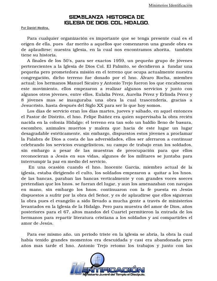 Proyecto de Ministerios Identificacion