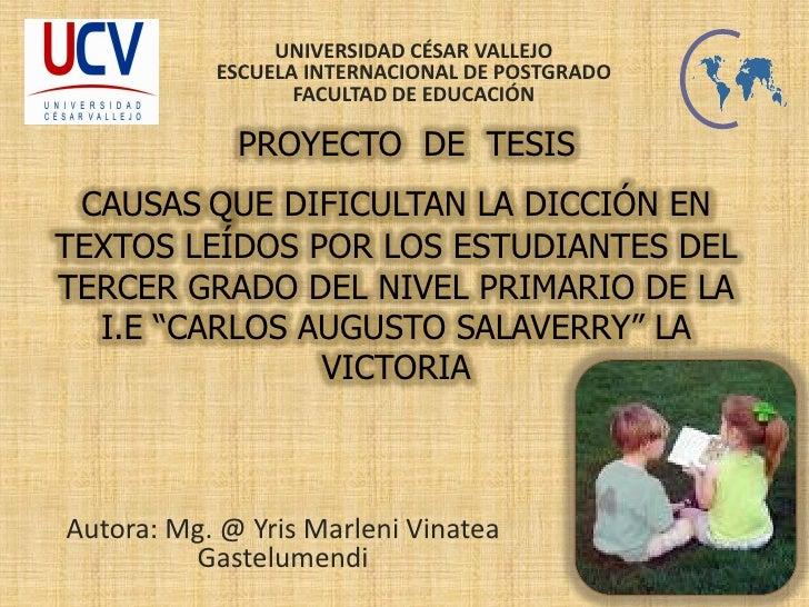 UNIVERSIDAD CÉSAR VALLEJO            ESCUELA INTERNACIONAL DE POSTGRADO                   FACULTAD DE EDUCACIÓN           ...