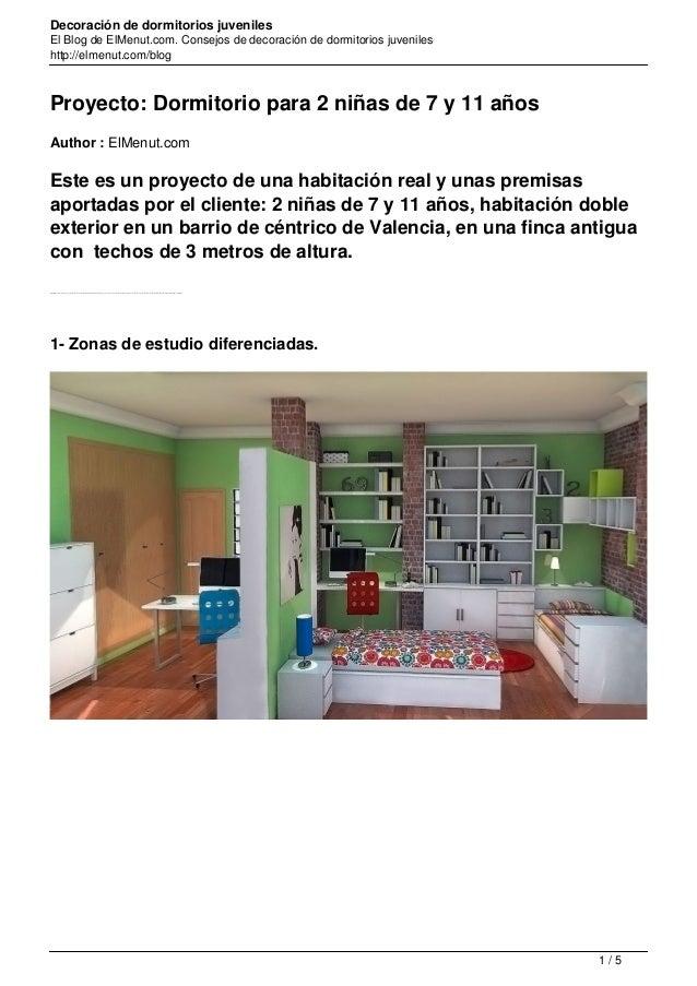 Proyecto Dormitorio 2 Niñas 7 Y 11 Años