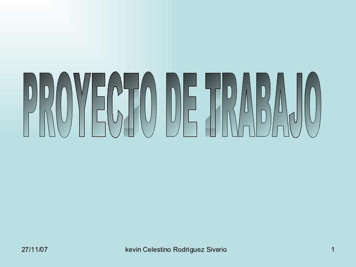 PROYECTO DE TRABAJO
