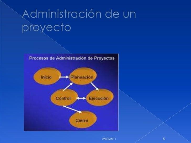 Administración de un proyecto<br />10/05/2011<br />5<br />