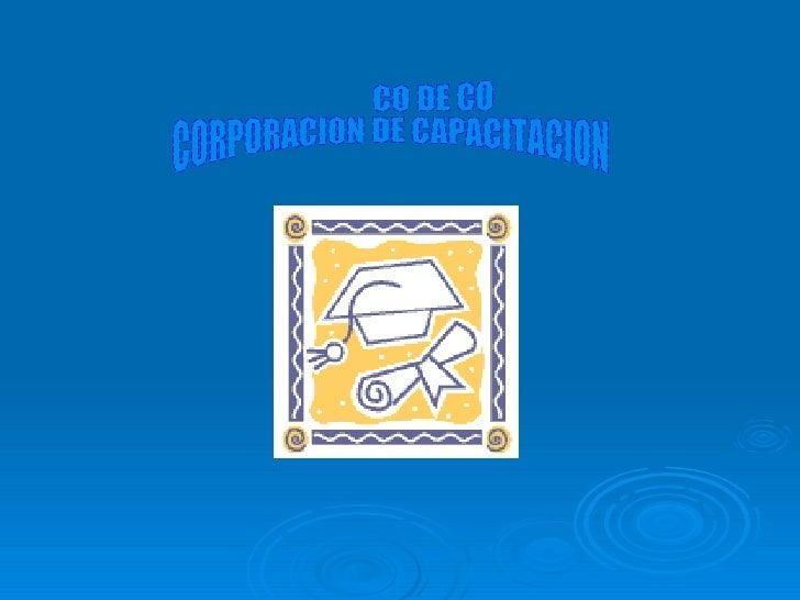 CO DE CO CORPORACION DE CAPACITACION