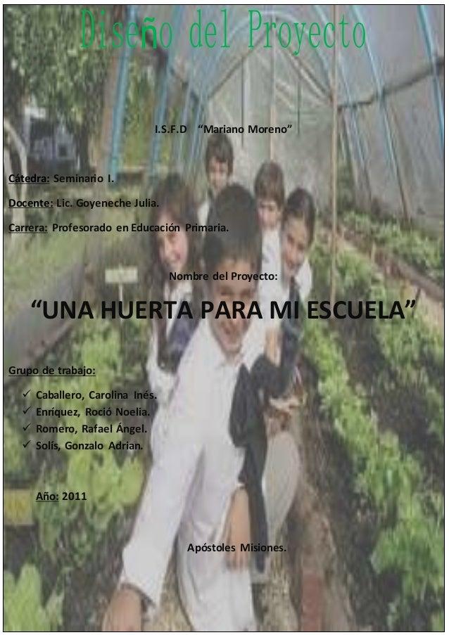 """I.S.F.D """"Mariano Moreno"""" Cátedra: Seminario I. Docente: Lic. Goyeneche Julia. Carrera: Profesorado en Educación Primaria. ..."""