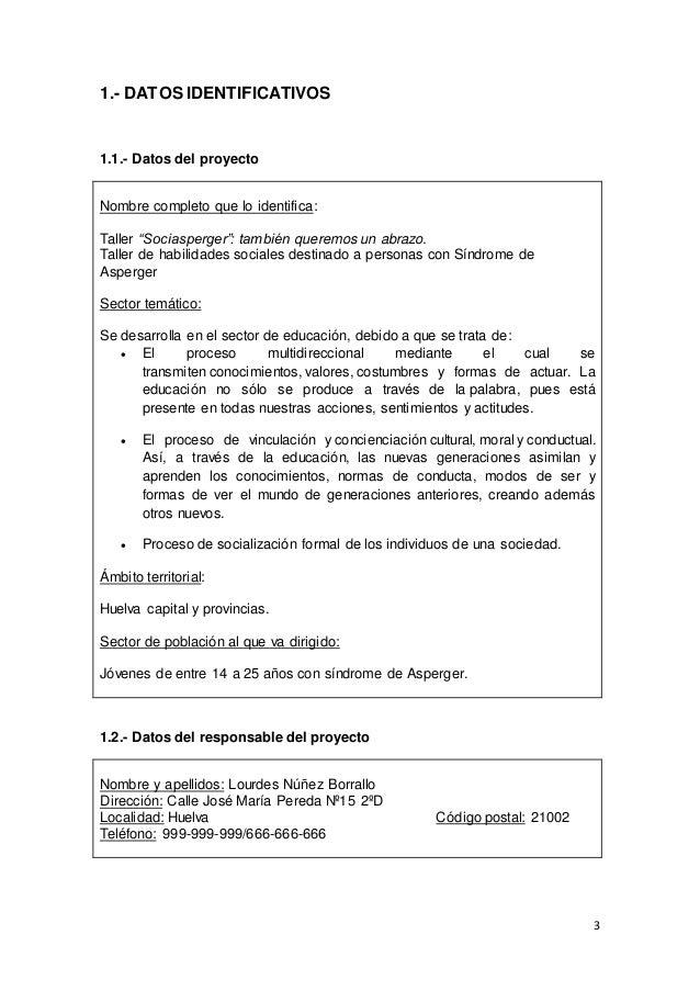 Proyecto Ciclo Formativo Grado Superior Integración Social