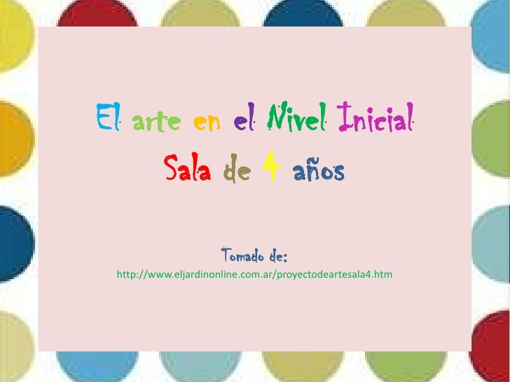 Arte en el nivel inicial for Curriculum de nivel inicial